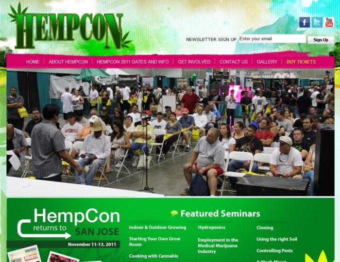 Image of HempCon Website