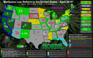 Map of Medical Marijuana Laws by State