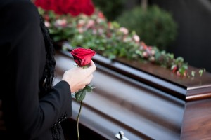 Religion, death and dolor - funeral and cemetery; funeral with