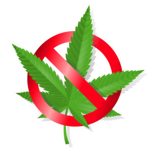 Stop marijuana sign isolated vector illustration. Editable EPS and Render in JPG format