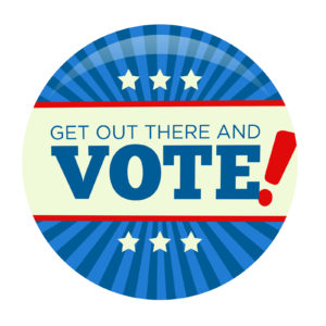 Retro or Vintage Style Vote or Voting Campaign Election Pin Butt