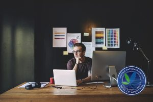 Graphics Designer Editor Workplace Concept