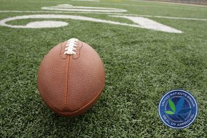 American Football Near The 20 Yard Line
