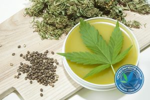 Home made healing ointment made of marijuana