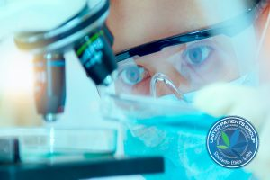 Scientist With Equipment And Science Experiments ,laboratory Gla